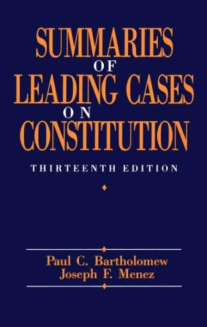 Download Summaries of leading cases on the Constitution