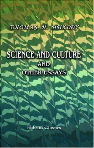 Science and Culture and Other Essays