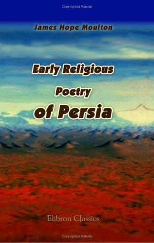 Download Early Religious Poetry of Persia