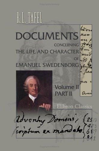 Download Documents Concerning the Life and Character of Emanuel Swedenborg