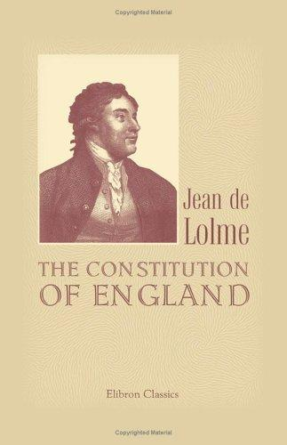 Download The Constitution of England