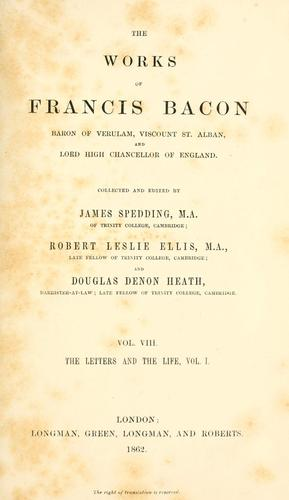 The  works of Francis Bacon …