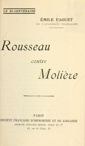 Download Rousseau contre Molière