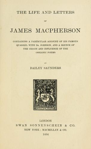 Download The life and letters of James Macpherson