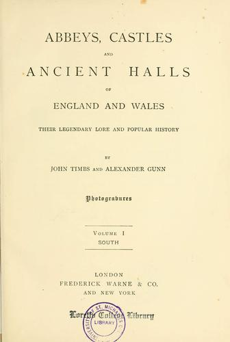 Download Abbeys, castles, and ancient halls of England and Wales
