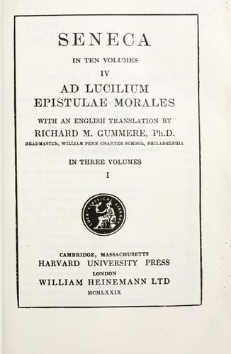 Epistulae morales by Seneca the Younger