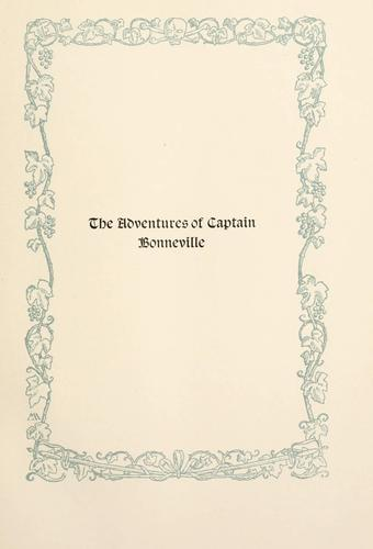 The adventvres of Captain Bonneville, V.S.A.