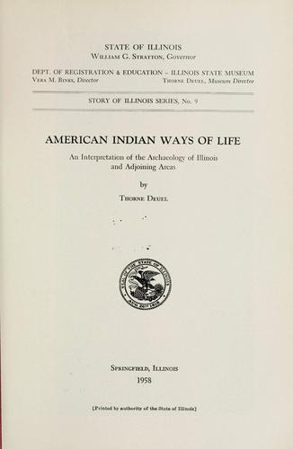 Download American Indian ways of life