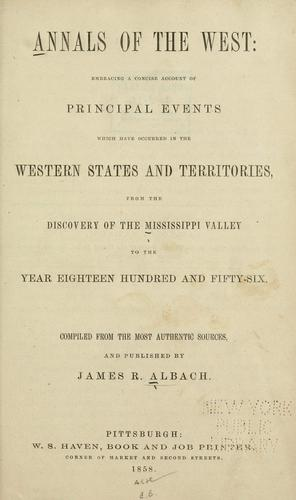 Download Annals of the West