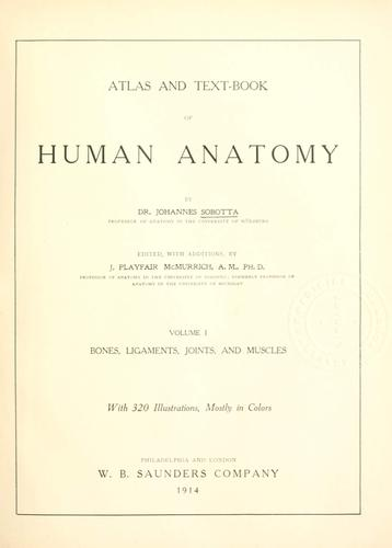 Download Atlas and text-book of human anatomy