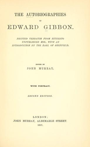 Download The  autobiographies of Edward Gibbon.