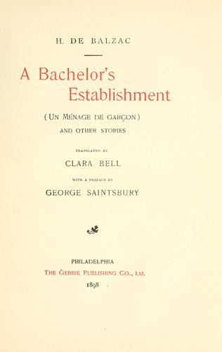 A bachelor's establishment