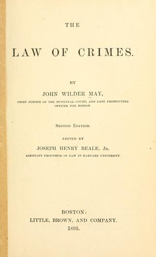 Download The law of crimes.