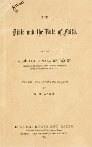 Download The Bible and the rule of faith