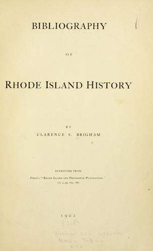 Download Bibliography of Rhode Island history