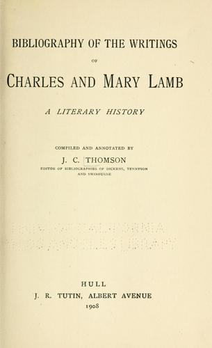 Download Bibliography of the writings of Charles and Mary Lamb