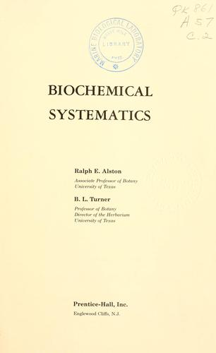 Download Biochemical systematics
