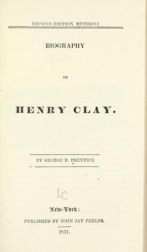 Download Biography of Henry Clay.
