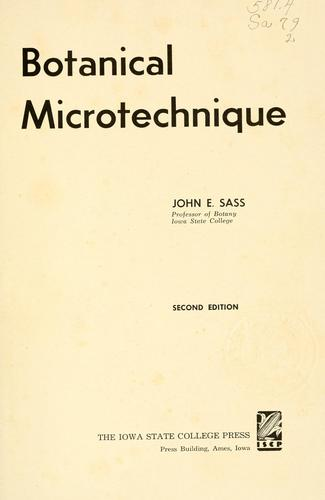 Download Botanical microtechnique.