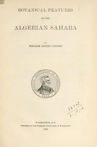 Download Botanical features of the Algerian Sahara.