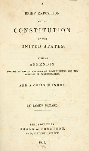 Download A brief exposition of the Constitution of the United States.
