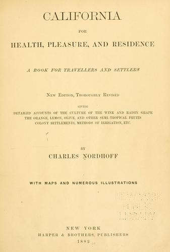 Download California for health, pleasure, and residence