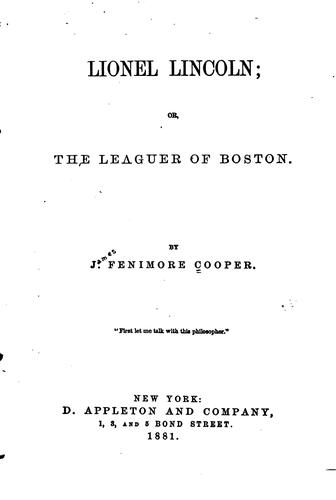 Download Lionel Lincoln: Or, The Leaguer of Boston