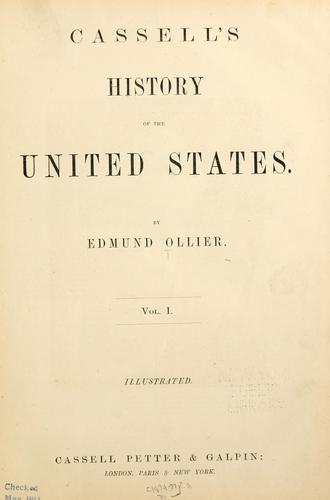 Download Cassell's history of the United States