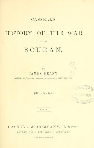 Cassell's history of the war in the Soudan.