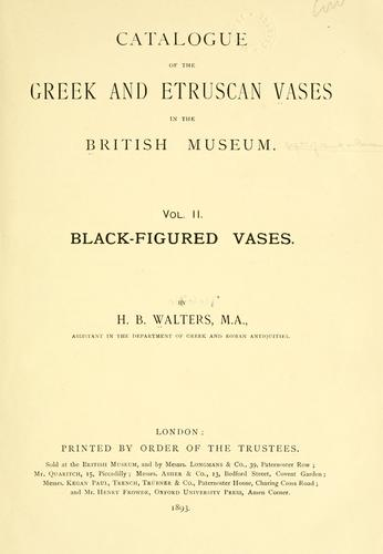 Download A catalogue of the Greek and Etruscan vases in the British Museum.
