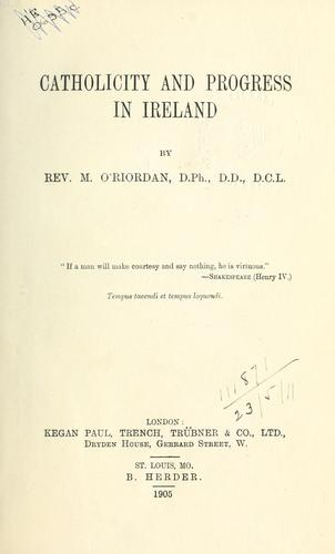 Download Catholicity and progress in Ireland.