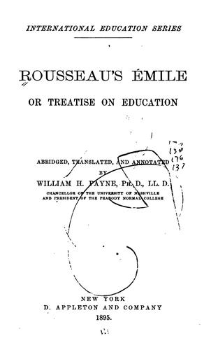 Rousseau's Émile: Or, Treatise on Education