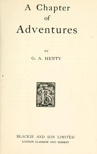 A chapter of adventures.