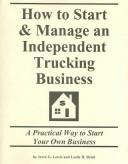 Download How to Start & Manage an Independent Trucking Business