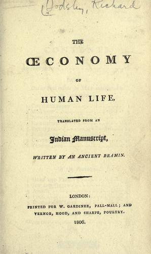 The conomy of human life