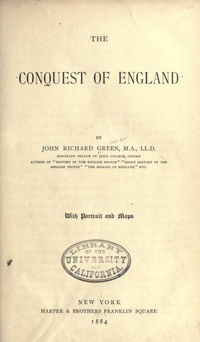 Download The conquest of England.