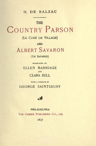 Download Country parson