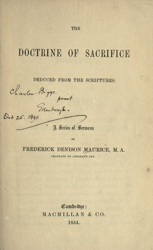 Download The doctrine of sacrifice deduced from the scriptures