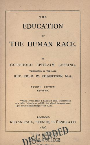Download The education of the human race.