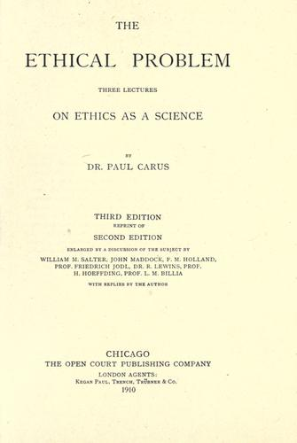 Download The ethical problem