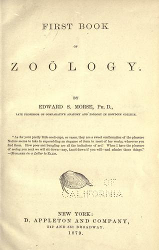 First book of zoölogy.