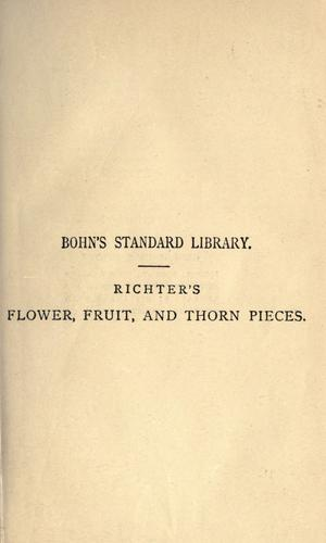 Flower, fruit, and thorn pieces; or by Jean Paul