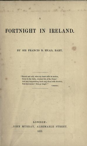 Download A fortnight in Ireland.
