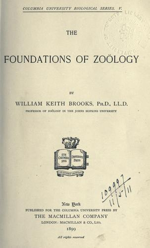 Download The foundations of zoölogy.
