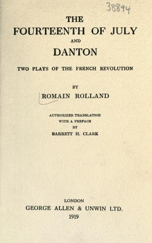 Download The fourteenth of July, and Danton