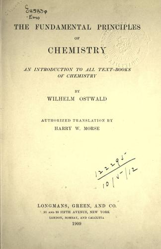The fundamental principles of chemistry