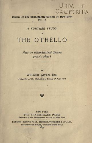A further study of the Othello