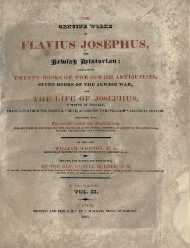 Download The genuine works of Flavius Josephus