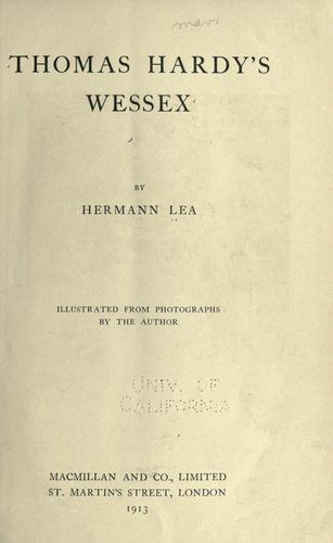 Download Thomas Hardy's Wessex