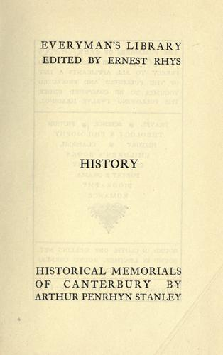 Download Historical memorials of Canterbury.